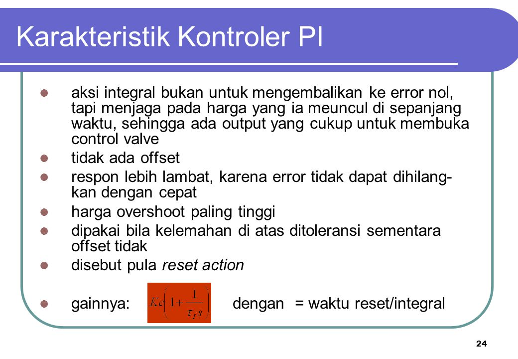Karakteristik Kontroler PI