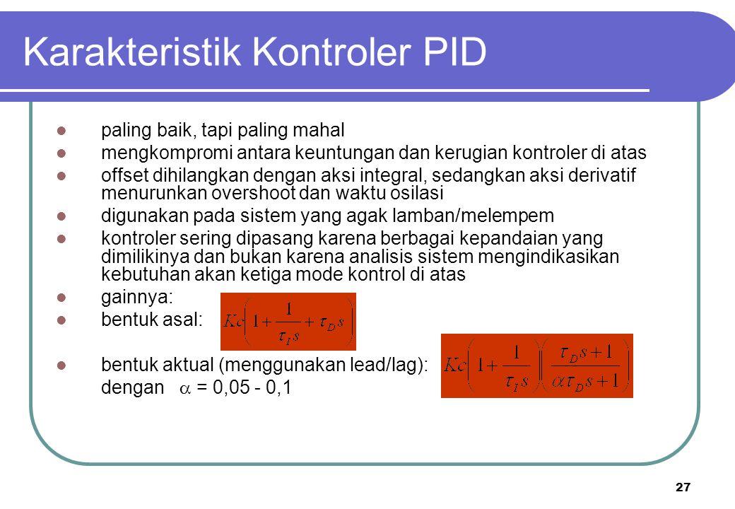 Karakteristik Kontroler PID