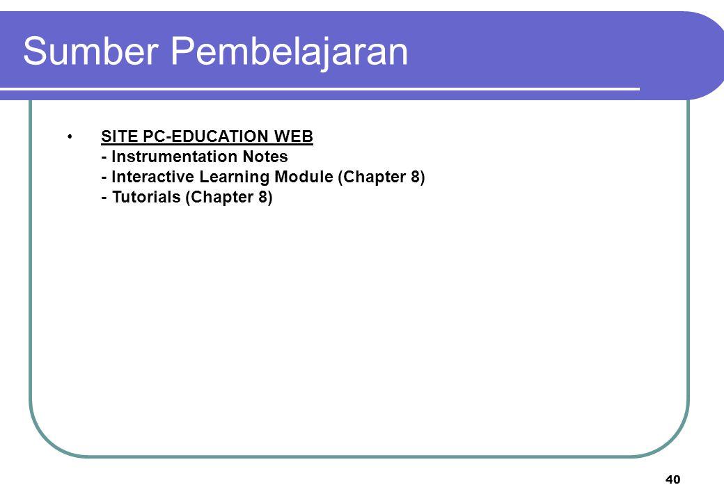 Sumber Pembelajaran SITE PC-EDUCATION WEB - Instrumentation Notes
