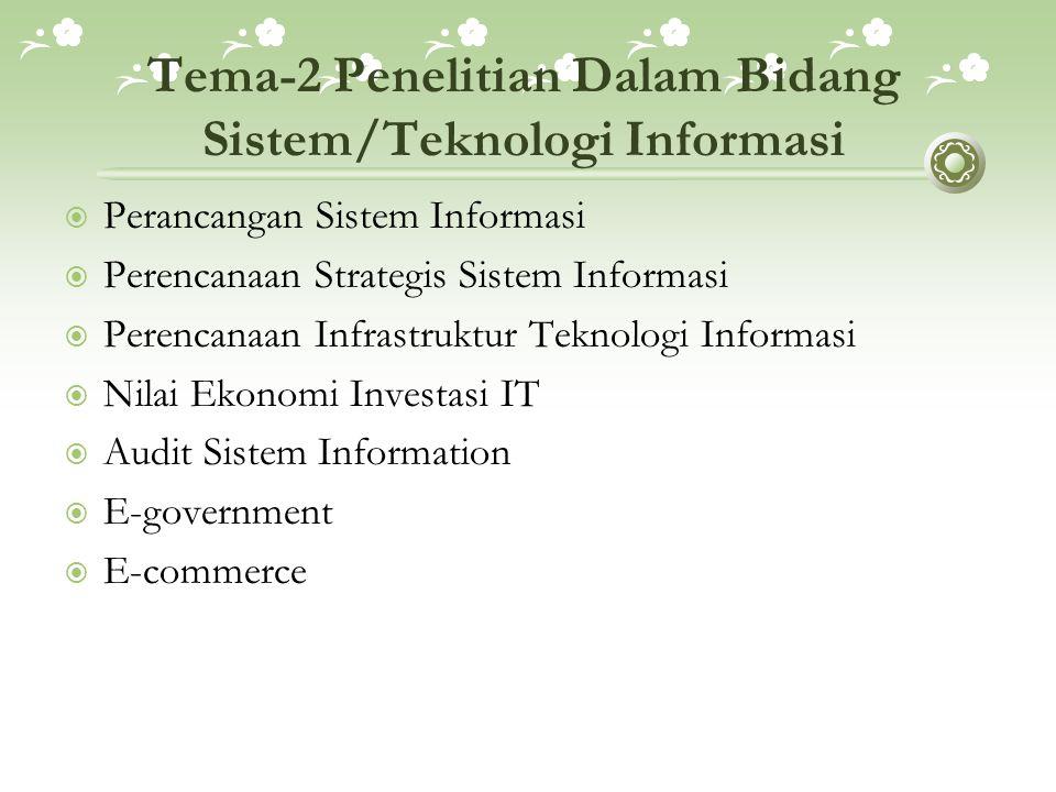 Tema-2 Penelitian Dalam Bidang Sistem/Teknologi Informasi