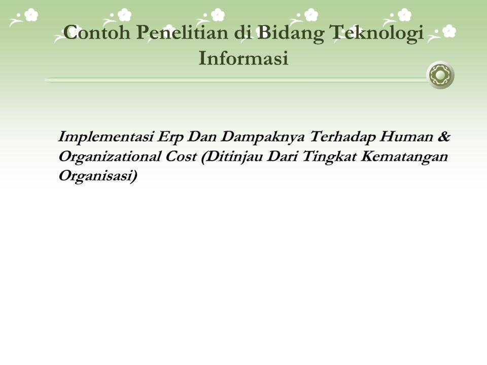 Contoh Penelitian di Bidang Teknologi Informasi