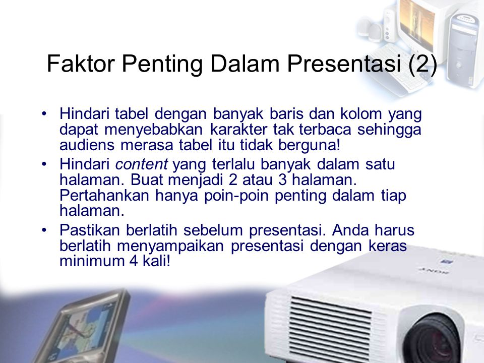 Faktor Penting Dalam Presentasi (2)