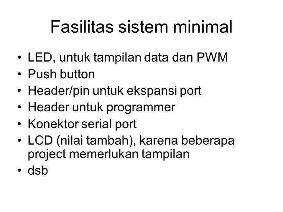 Fasilitas sistem minimal