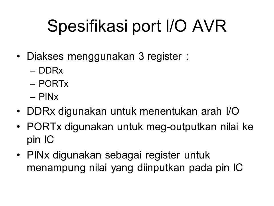 Spesifikasi port I/O AVR