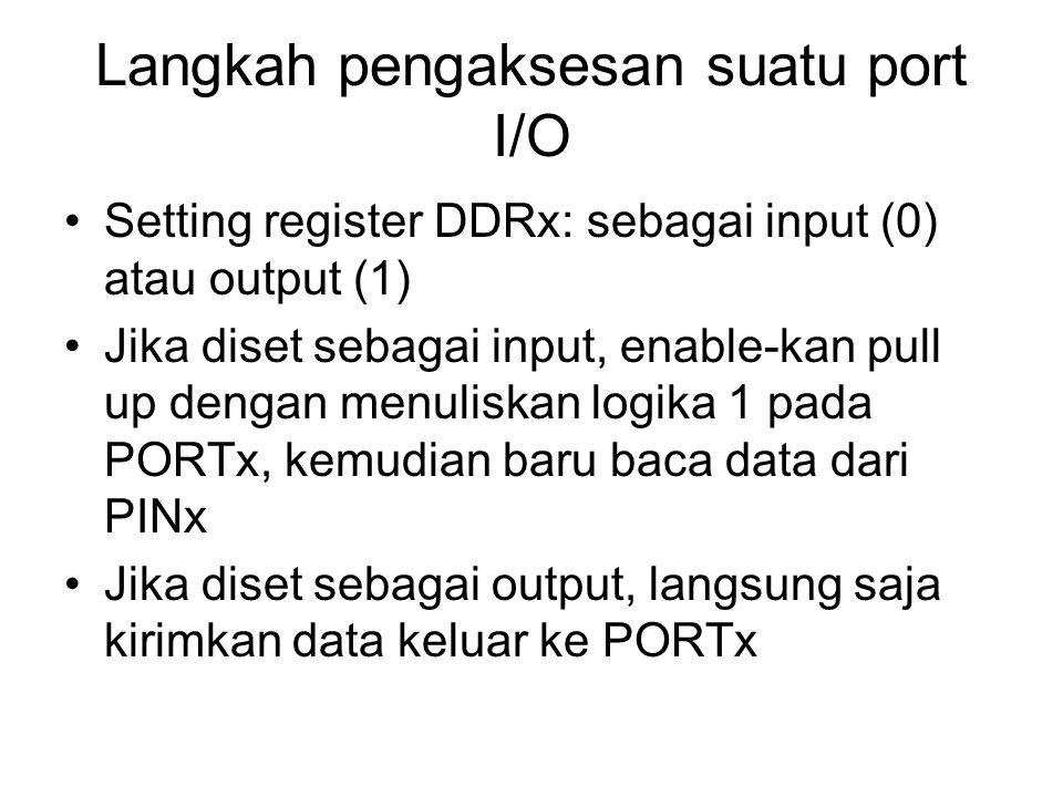 Langkah pengaksesan suatu port I/O