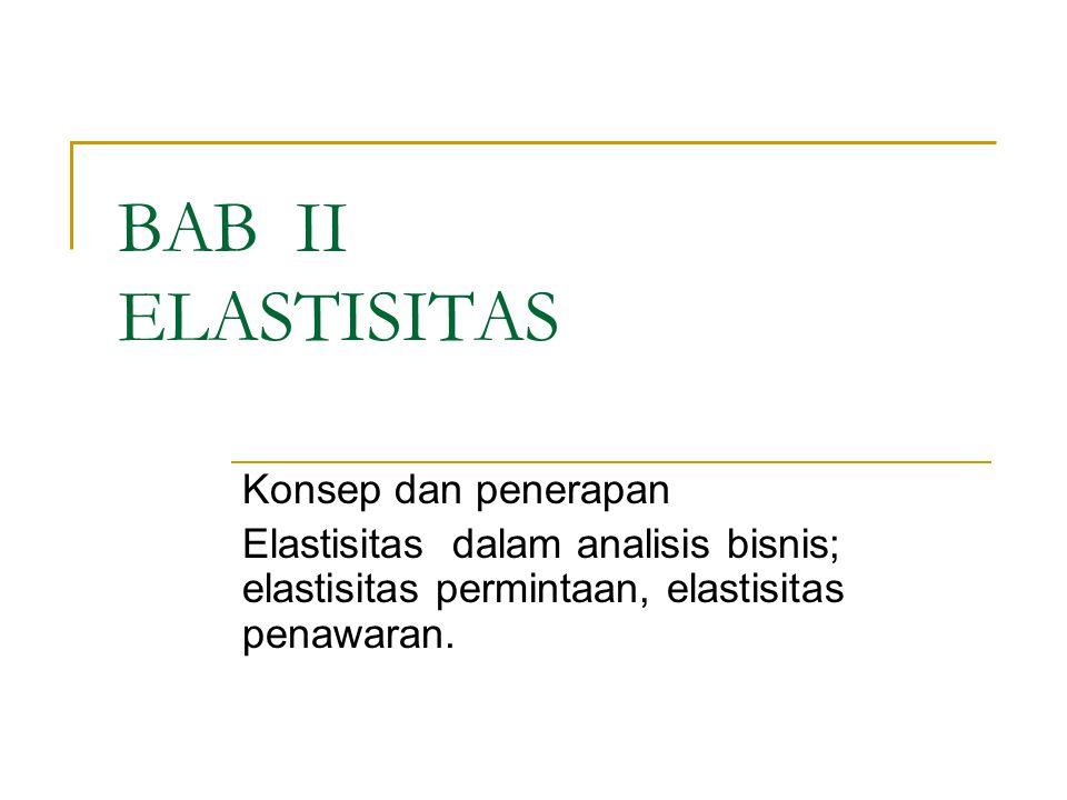 BAB II ELASTISITAS Konsep dan penerapan