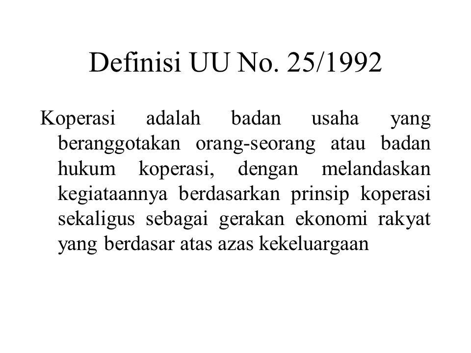 Definisi UU No. 25/1992