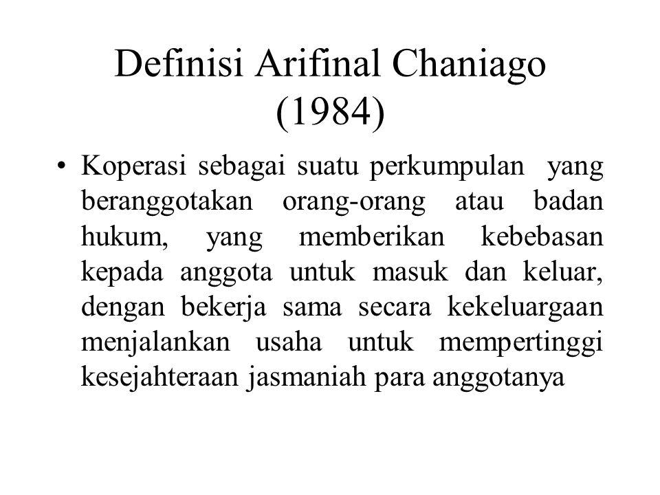 Definisi Arifinal Chaniago (1984)