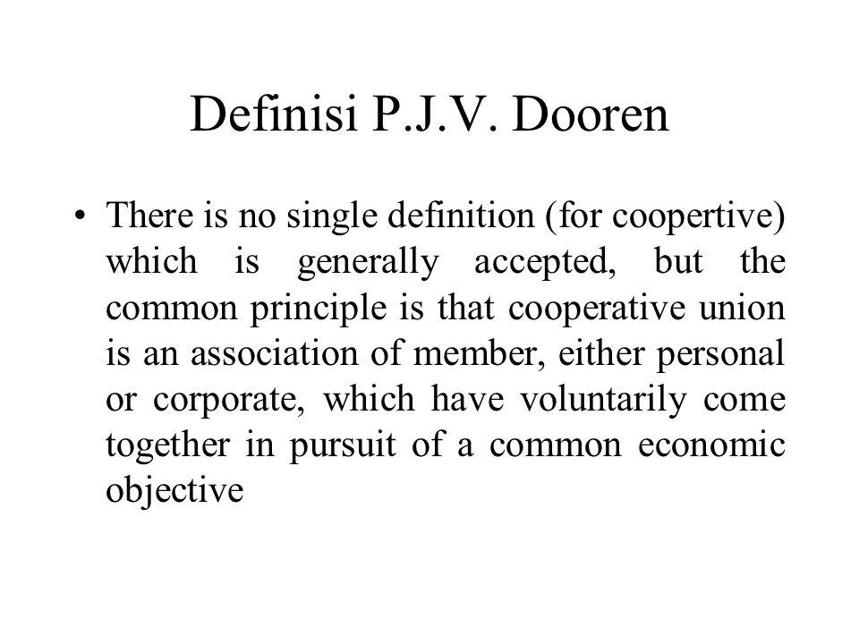 Definisi P.J.V. Dooren