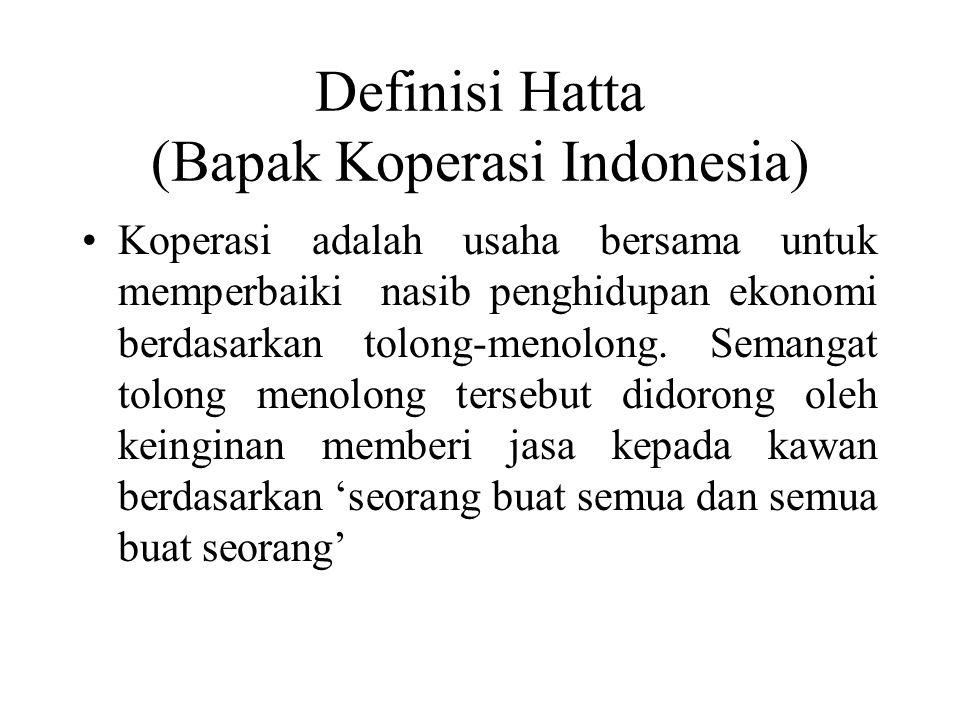Definisi Hatta (Bapak Koperasi Indonesia)