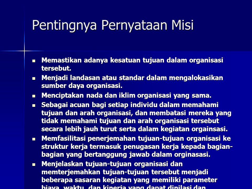 Pentingnya Pernyataan Misi