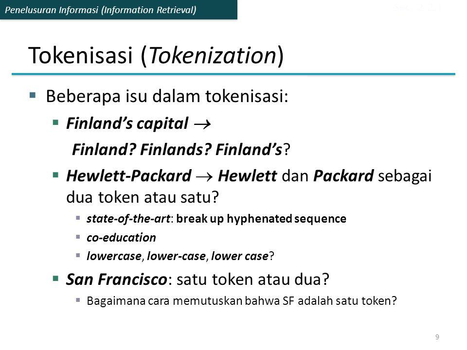 Tokenisasi (Tokenization)