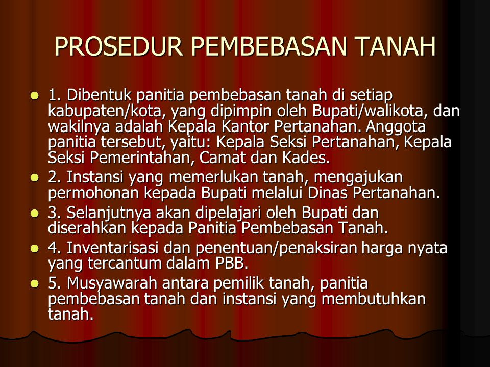 PROSEDUR PEMBEBASAN TANAH