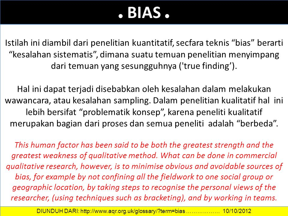 . BIAS . DATA DAN INFORMASI.