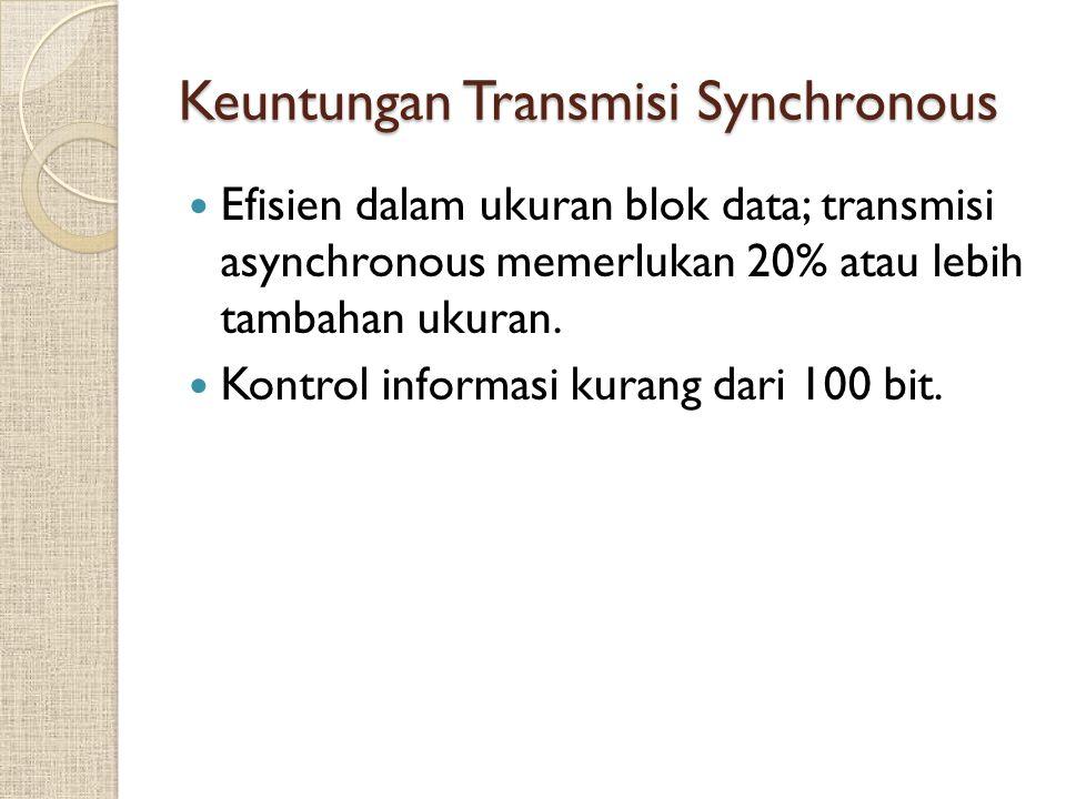 Keuntungan Transmisi Synchronous
