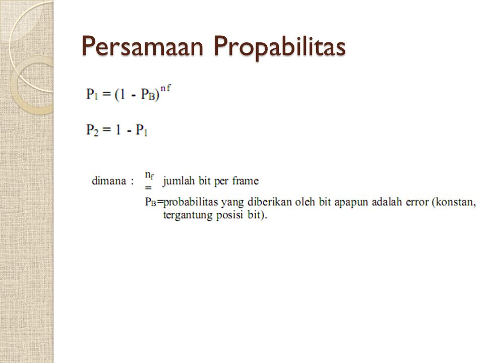 Persamaan Propabilitas