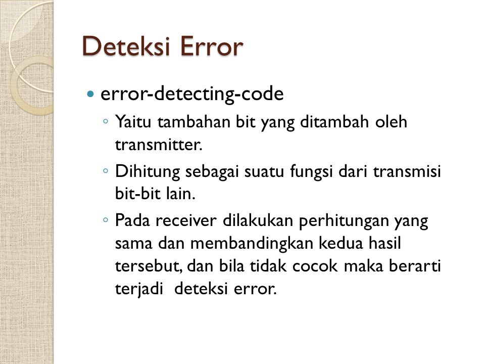Deteksi Error error-detecting-code