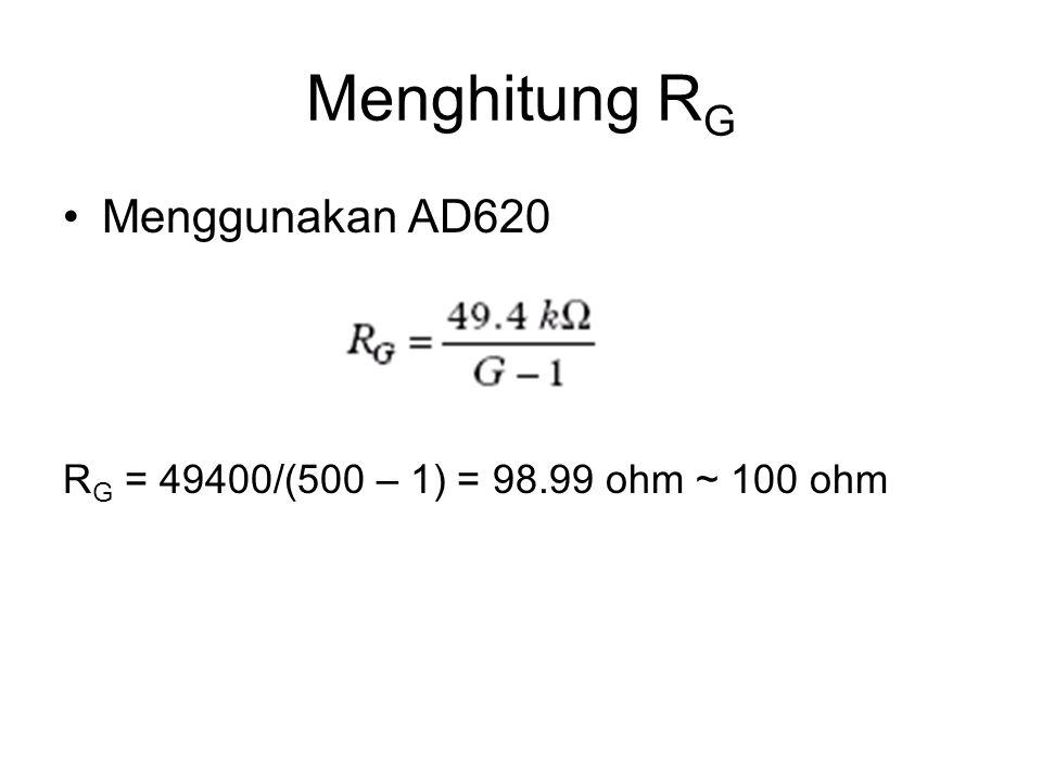 Menghitung RG Menggunakan AD620