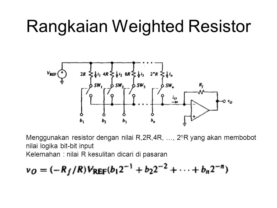 Rangkaian Weighted Resistor