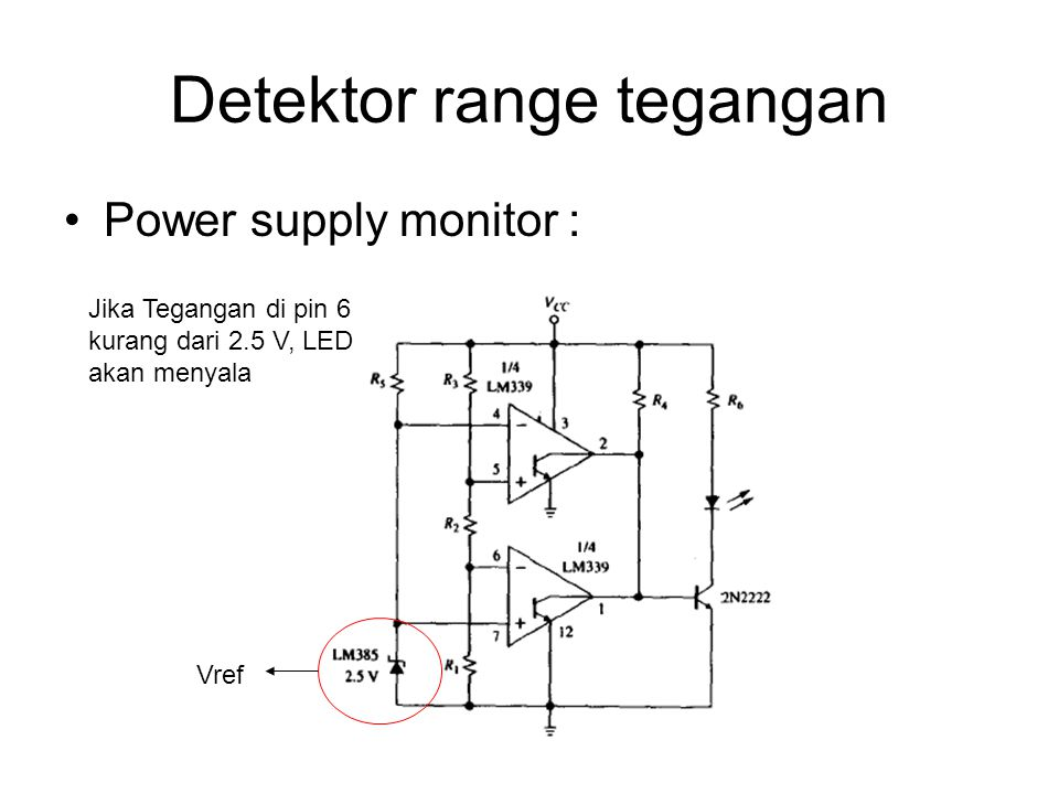 Detektor range tegangan