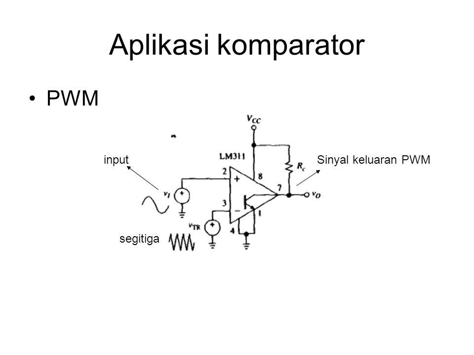 Aplikasi komparator PWM input Sinyal keluaran PWM segitiga