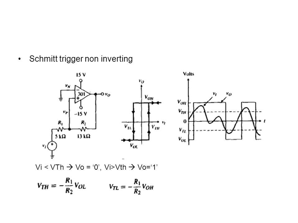 Schmitt trigger non inverting