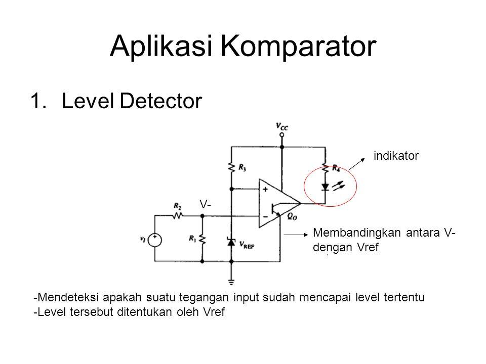 Aplikasi Komparator Level Detector indikator V-