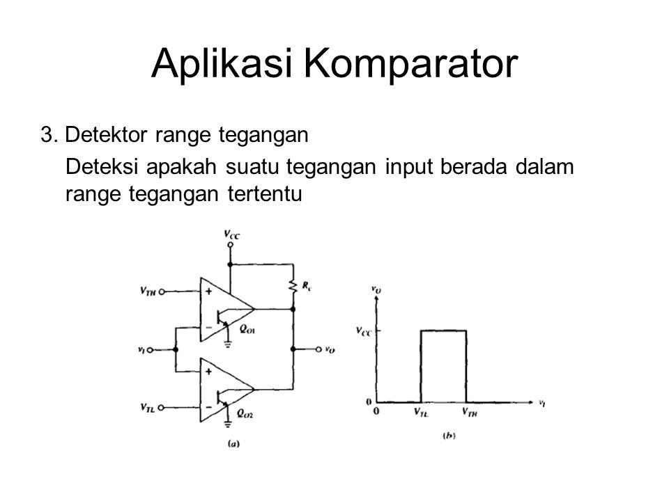 Aplikasi Komparator 3. Detektor range tegangan