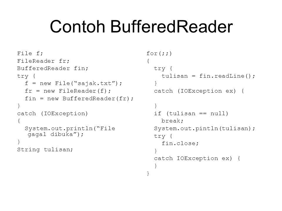 Contoh BufferedReader