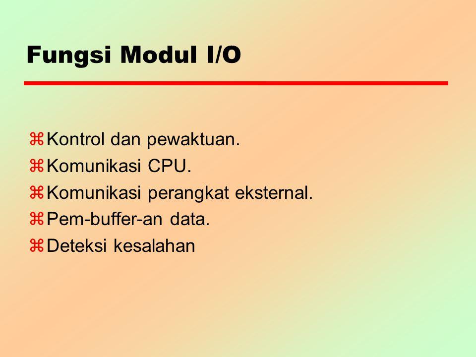 Fungsi Modul I/O Kontrol dan pewaktuan. Komunikasi CPU.
