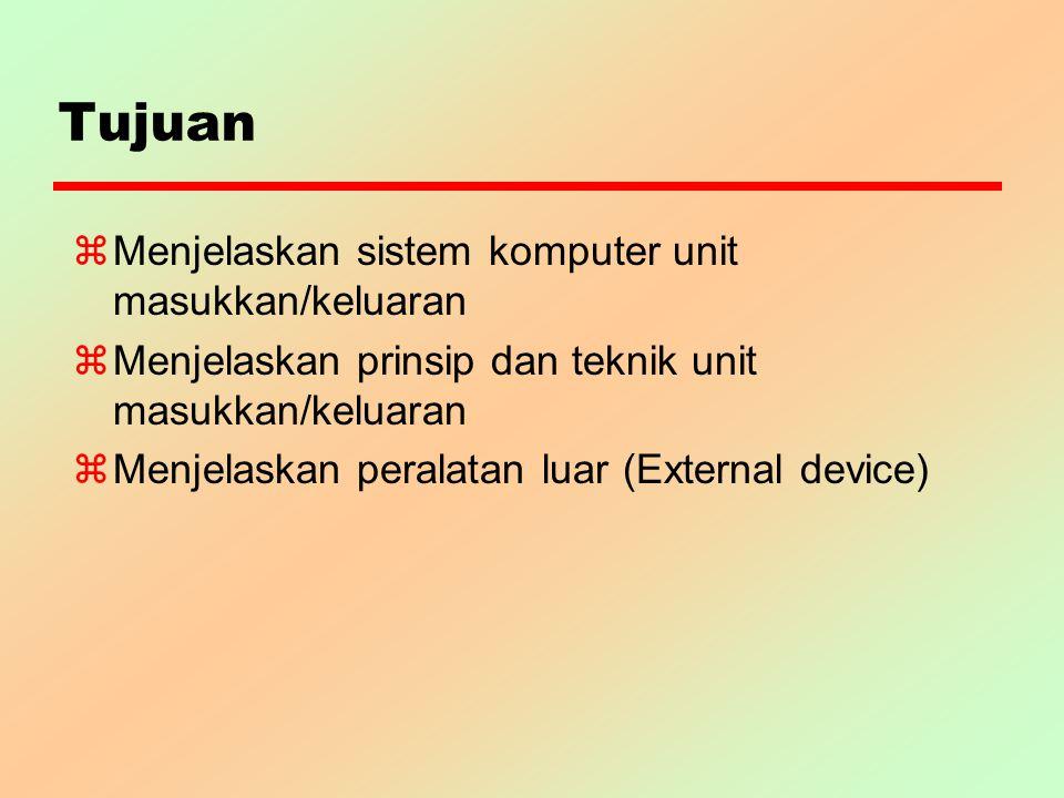 Tujuan Menjelaskan sistem komputer unit masukkan/keluaran