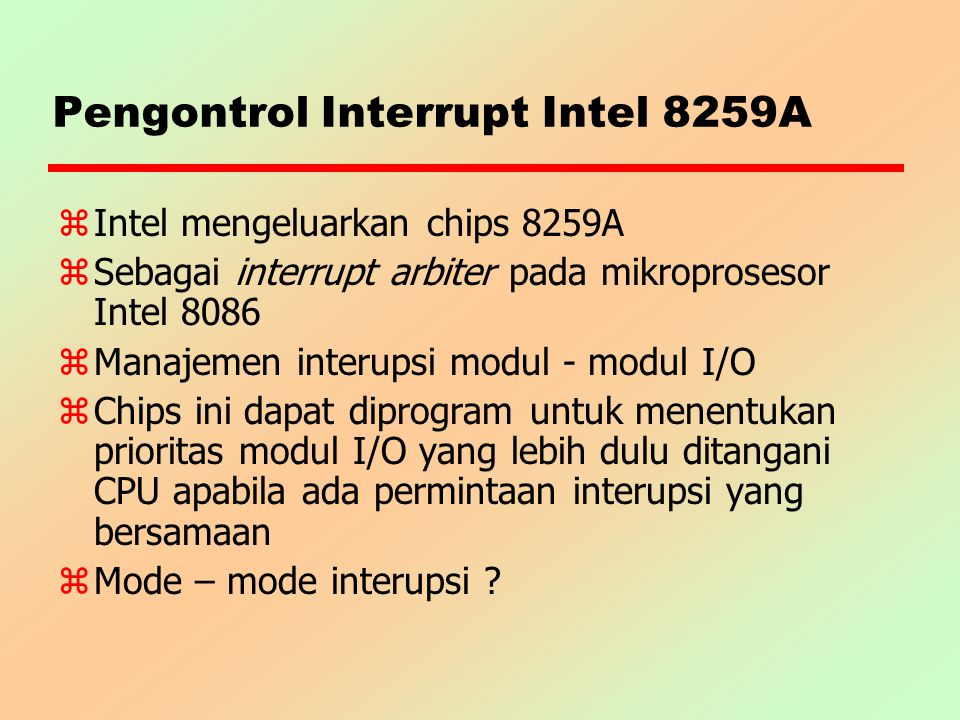 Pengontrol Interrupt Intel 8259A
