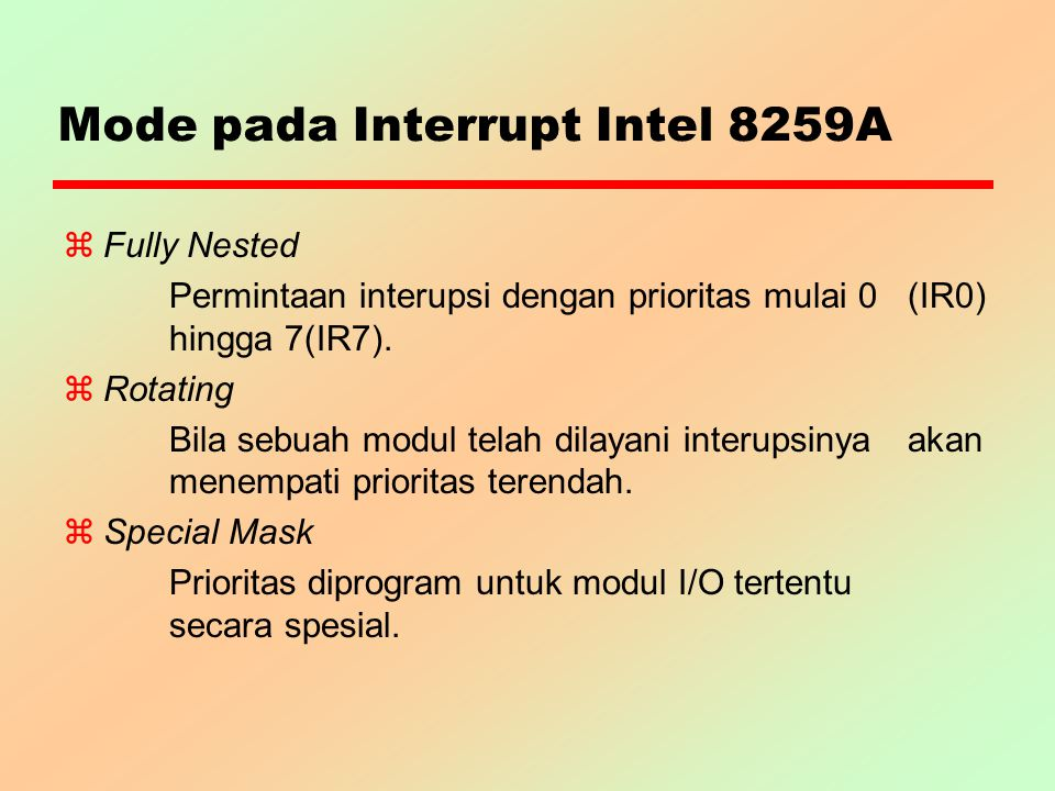 Mode pada Interrupt Intel 8259A