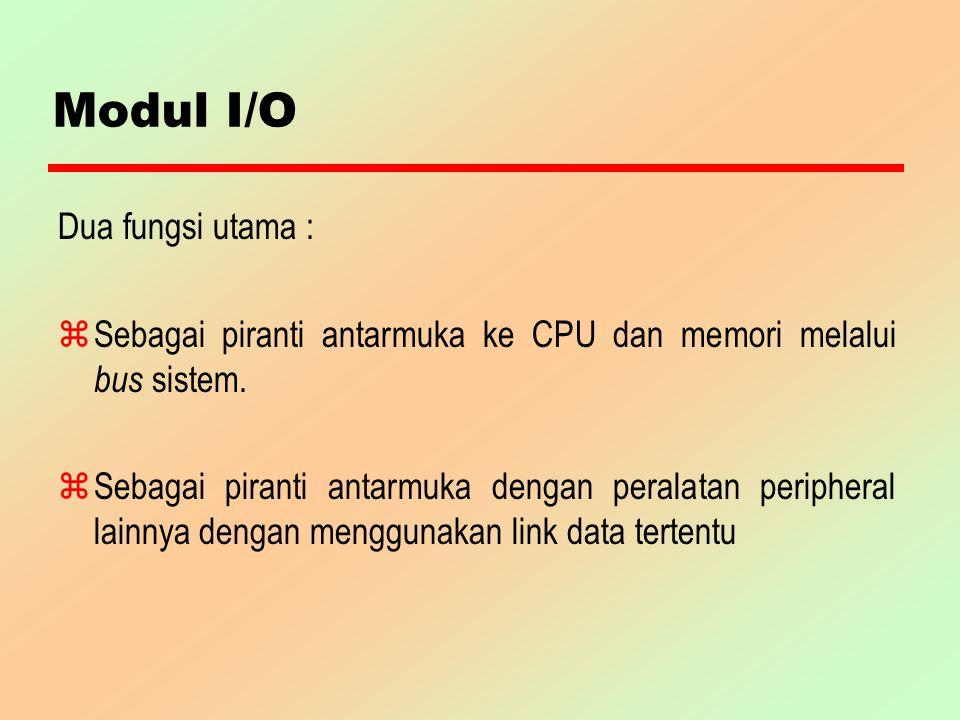 Modul I/O Dua fungsi utama :