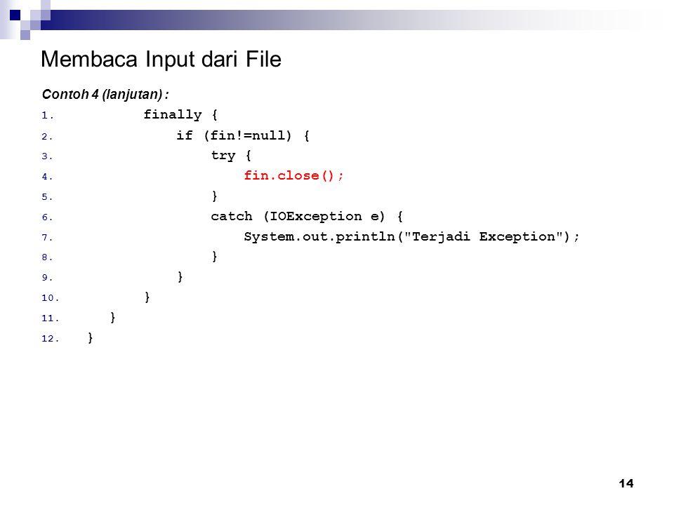 Membaca Input dari File