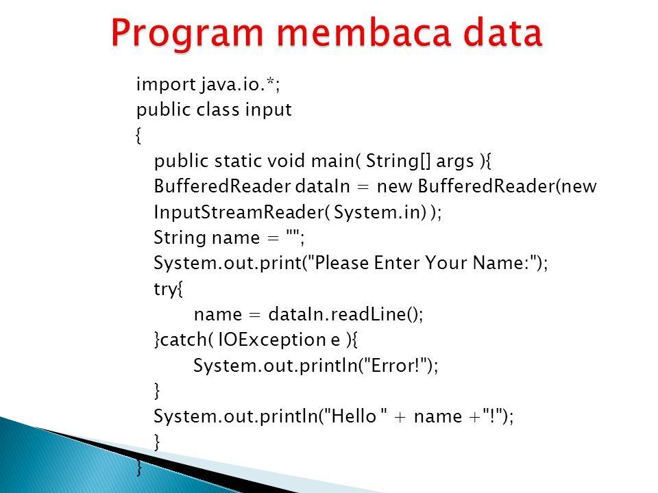 Program membaca data