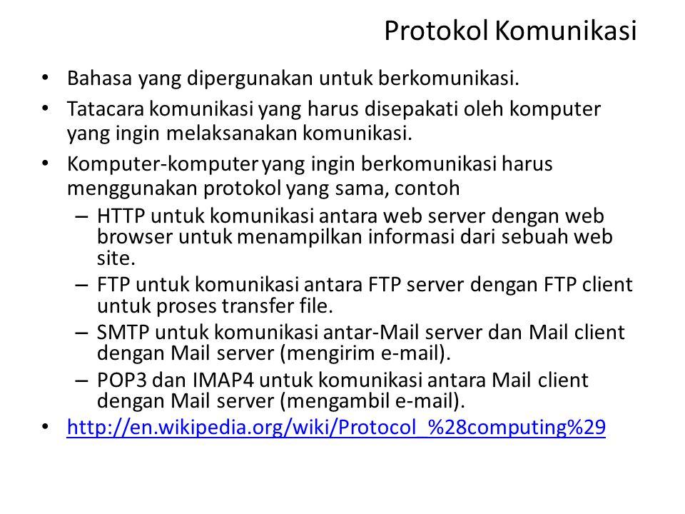 Protokol Komunikasi Bahasa yang dipergunakan untuk berkomunikasi.