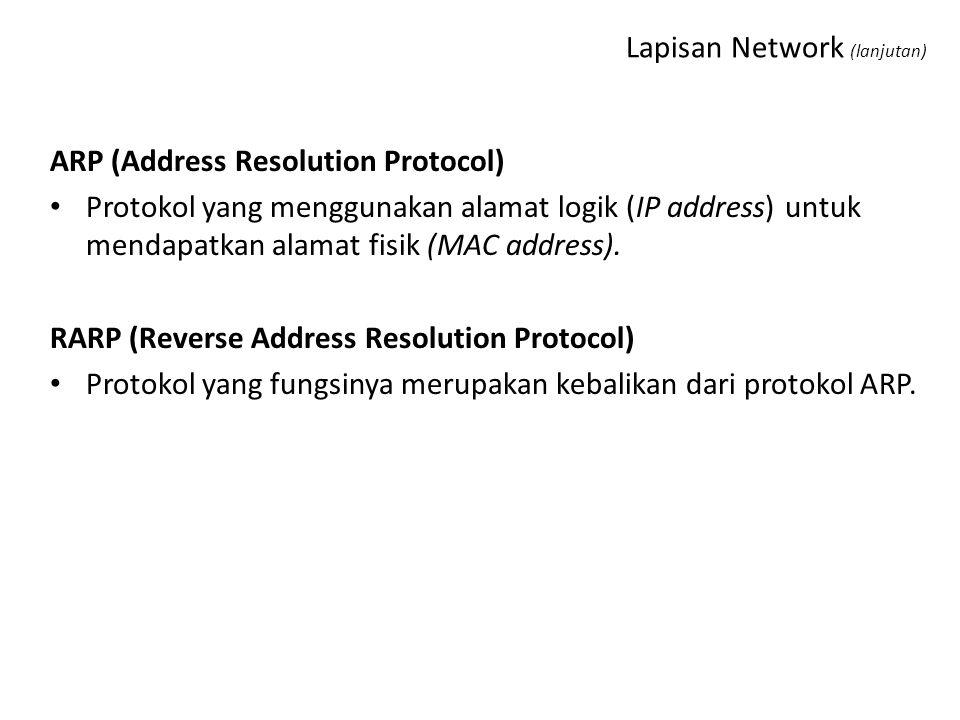 Lapisan Network (lanjutan)