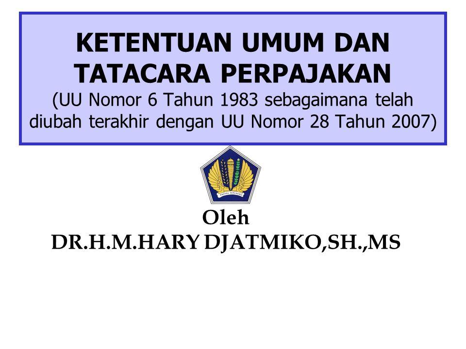 DR.H.M.HARY DJATMIKO,SH.,MS