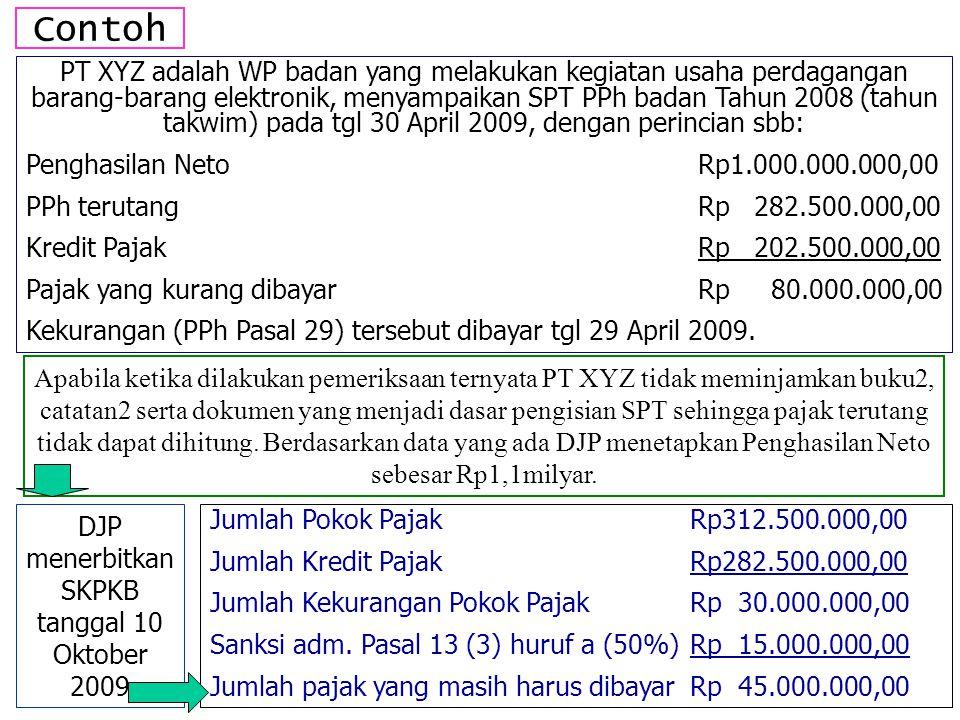 DJP menerbitkan SKPKB tanggal 10 Oktober 2009