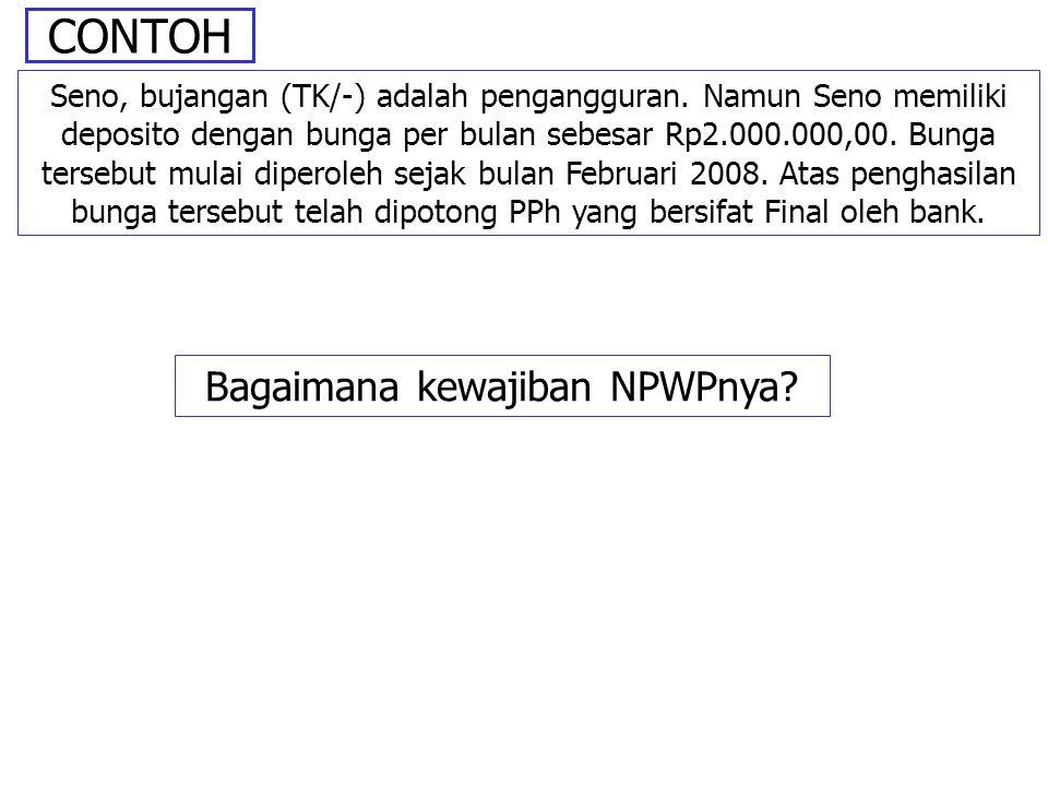 Bagaimana kewajiban NPWPnya