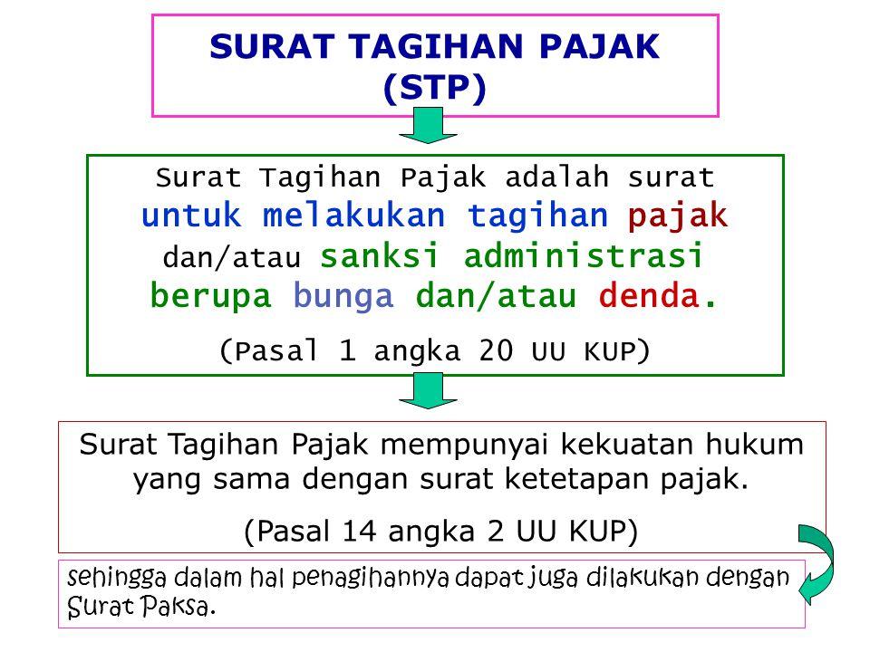 SURAT TAGIHAN PAJAK (STP)