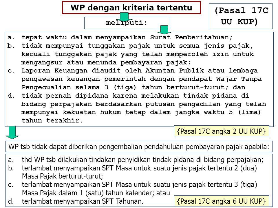 WP dengan kriteria tertentu