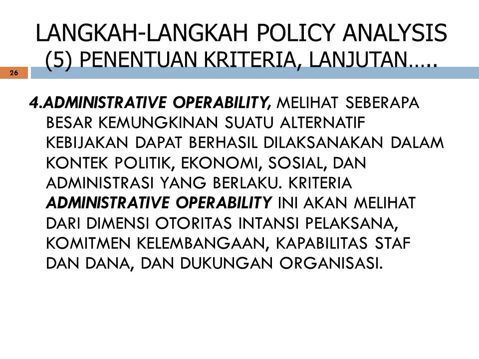 LANGKAH-LANGKAH POLICY ANALYSIS