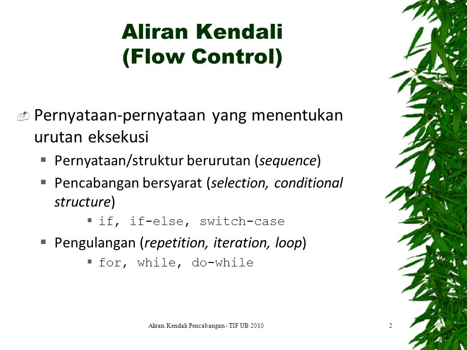 Aliran Kendali (Flow Control)