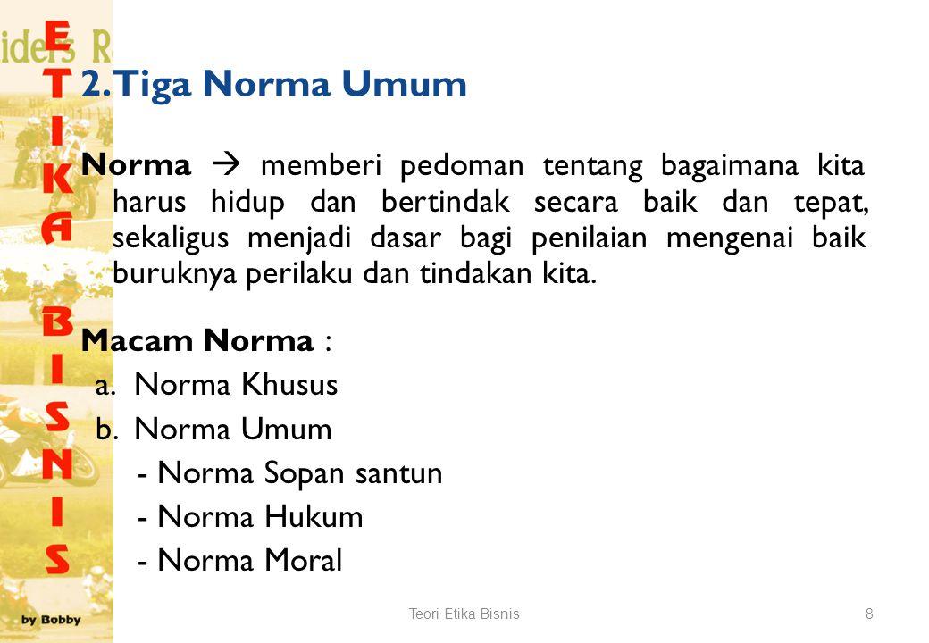 2. Tiga Norma Umum