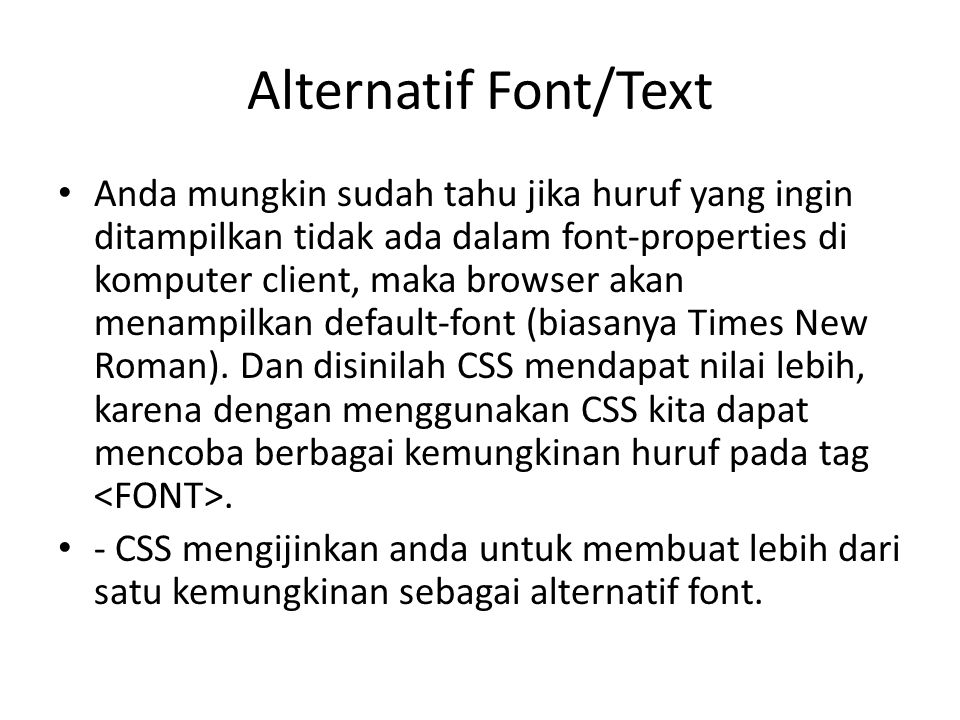 Alternatif Font/Text