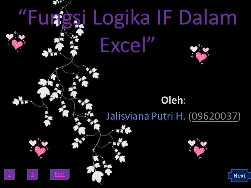 Fungsi Logika IF Dalam Excel