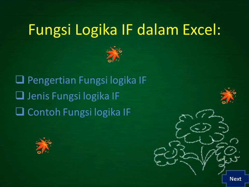 Fungsi Logika IF dalam Excel: