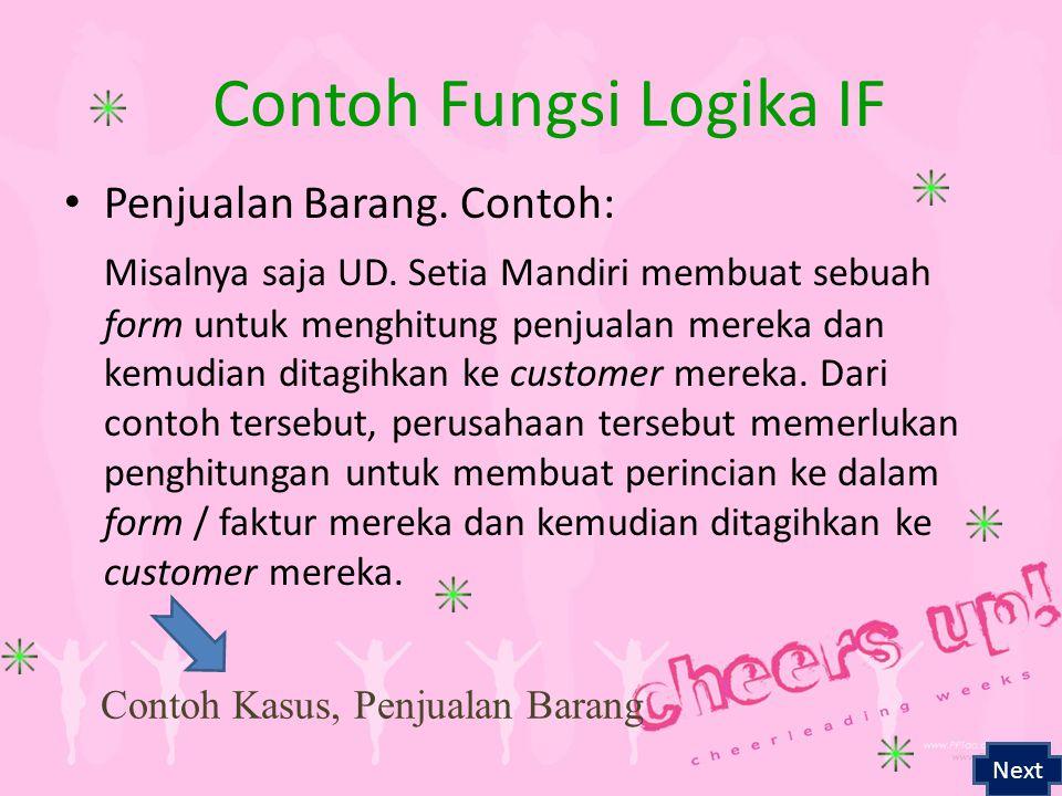 Contoh Fungsi Logika IF